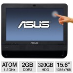 "The ASUS All-in-One PC's small footprint, 15.6"" screen and standard ASUS certified wall-mounting screws (requires mounting bracket) make it the ideal fit in any environment."